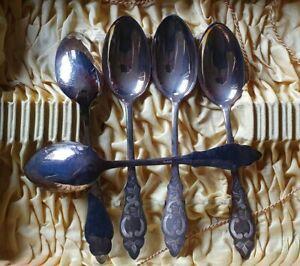 5x Silber Esslöffel R&B 90 Ostfriesenmuster