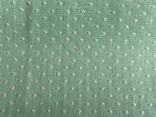 2 1/5 Yards Of Vintage Mint Green & White Sheer Dotted Swiss Cotton Fabric