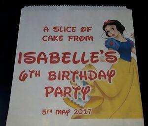 Personalised Disney Snow White White Cake / Party Bags