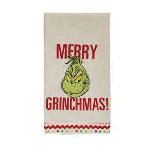 Dept 56 Merry Grinchmas Grinch Christmas Kitchen Tea Towel