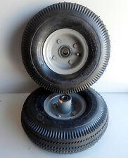 "(2) Lot 4.10/3.50-4 Hand Truck Air Tire with InnerTube Offset Split Hub 5/8"" ID"