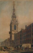 1801 AQUATINT BOW STEEPLE CHEAPSIDE W LOCHNER - SAMUEL ALKEN