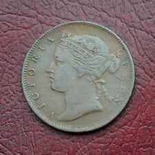 Straits Settlements 1873 copper half cent