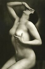 TOUCHY ANTIQUE BEAUTY FINE FRENCH NUDE WOMAN EXOTIC VINTAGE CLASSIC MANDEL PHOTO
