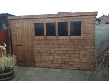 12x8 HEAVY DUTY PENT SHED - 13mm T/G, 3x2 FRAMEWORK