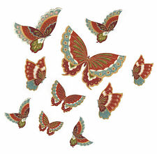 Lot de 10 Patch Thermocollant en tissu Papillon Iron-on patch Butterfly n°1