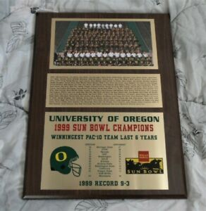 >orig. 1999 SUN BOWL  **Oregon Ducks Football Plaque** Joey Harrington, Howry++