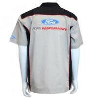 David Carey Ford Performance Pit Logo Cars Mechanic Button Down Work Shirt 48947
