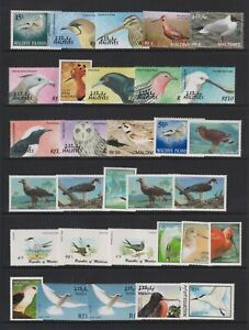 Maldives - Small Collection of 124 x Bird Stamps - Mint