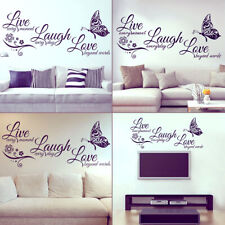 Quotes Wall Stickers Family Kids DIY Removable Vinyl Decal Mural Home Room Decor