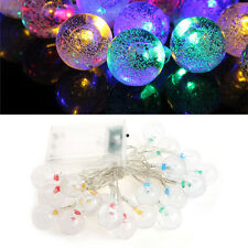 CroLED 2M 20 LED Crystal Bubble Ball RGB fairy String Lights Party Wedding Decor