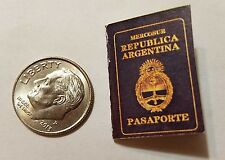 Miniature Argentina  Passport  GI Joe Action Figure  Scale Secret Jason Bourne