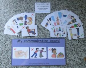 None verbal communication cards for right & wrong actions ~ Autism ~ SEN ~