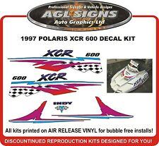 1997  POLARIS INDY XCR 600 HOOD DECALS , shroud  graphic