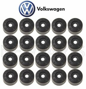 For VW Beetle CC Golf Passat Jetta GTI Set of 20 Black Wheel Lug Bolt Cover Caps