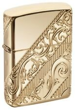 Zippo 2018 Collectible of The Year Golden Scroll Gold Plated Lighter 29653 *NEW*