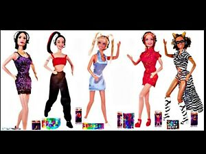 Spice Girls on Tour Complete Set 5 Original Dolls Galoob 1998 New NRFB Mini