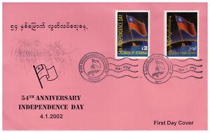Myanmar FDC vom 04.01.2002