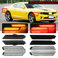 Front / Rear LED Side Marker Repeater Indicator Light For Chevy Camaro