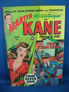 MARTIN KANE 4 (#1) VG F FIRST ISSUE WALLACE WOOD 1950
