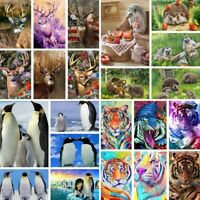 5D Diamond Painting Hedgehog Animal Tiger Cross Stitch Kit Penguins Deer Picture