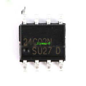 10pcs SMD AT24C02 Serial EEPROM 2.7-5.5V 2K SOP-8 Chip Circuits Chipsets