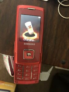 Samsung SGH E900 Red Mobile Phone Great Condition