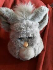Tiger Electronics Furby Gray Grey w off white  Belly & Blue Eyes Model 59294