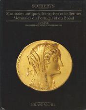 SOTHEBY'S Genève Monnaies antiques françaises italiennes Portugal 11& 12.11.1990