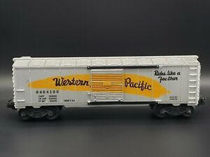 LIONEL NO. 6464 WESTERN PACIFIC YELLOW FEATHER BOX CAR