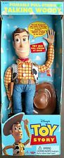 1995 Walt Disney Pixar Toy Story pull string talking Woody doll First Edition 👢