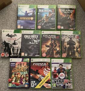 Xbox 360 Games Bundle 10 Game Joblot Microsoft Gears Batman Forza Dead Rising