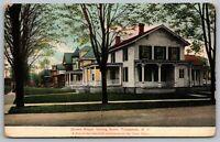 Tonawanda New York~Clinton Street Homes~Looking South~Multiple Porches~1907 PC