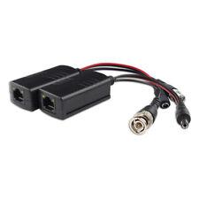 1 Pair BNC to RJ45 CAT5 Video +Data+Power Balun Connector for CCTV PTZ Camera