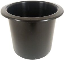 Single Black Drink holder plastic boat cup holder RV Poker table 2 7/8 inch cup