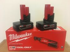 "Milwaukee 2457-20 M12 12V 3/8"" Inch Cordless Ratchet + (2) 4.0AH M12 Batteries"
