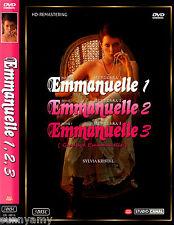 Sylvia Kristel - Emmanuelle 1 2 3 Trilogy Collection  3 X DVD Discs (NEW) Adult