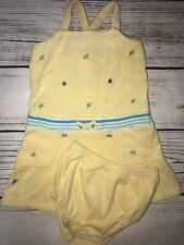 NEW Gymboree Beach Dress 18 To 24 Months 2 Piece Set Yellow Terrycloth Undies