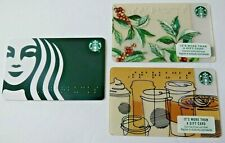 Starbucks Gift Card LOT of 3 Different - Braille - 2016, 2017, 2019 - No Value