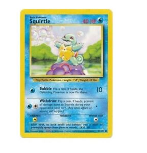 Squirtle 63/102 Base Set Unlimited Common Pokemon Card NM/EXC
