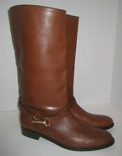 BURBERRY YORKLEY RIDING BOOTS BROWN LEATHER SIZE 10US /40EU $850+