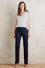 NEW ANTHROPOLOGIE Size 10 $118 Benton Trousers Elevenses Navy Womens Pants NWT