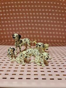 Schleich retired rare Dalmatian Dog family - Canine