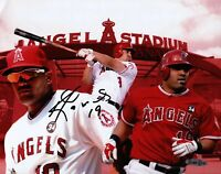 Kendrys Morales Signed 8X10 Photo Autograph Angels Collage UDA Upper Deck
