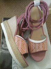 Ellie Goulding Star Collection Pink Size 4 Wedges With Tie Ankles New & Boxed