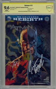 Batman #21 Foil C2E2 Exclusive The Button Flash Signed Jason Fabok and Tom King