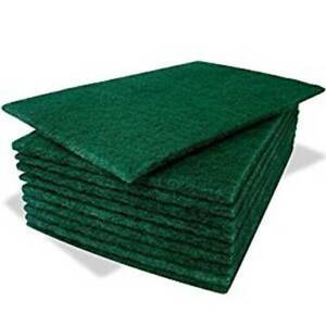 Pack of 8 Green Scourer Pads Stubborn Stains Removal