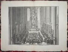 BERNARD PICART Engraving Removed From Ceremonies Et Coutumes Religieuses C1735 l