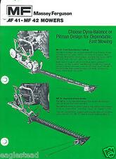 Farm Equipment Brochure - Massey Ferguson - 41 42 - Mowers - c1976 (F4482)