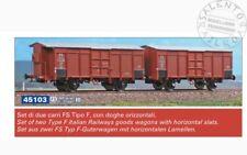ACME 45103 set di due carri merci FS tipo F con doghe orizzontali - 1/87